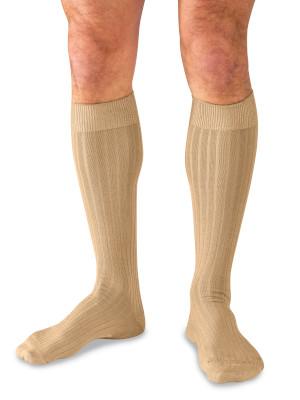 Khaki Over the Calf Dress Socks for Men