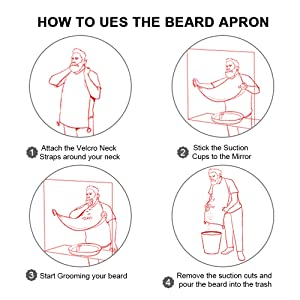 how to use the beard apron for men