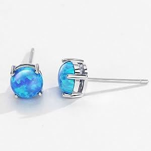 blue stud earrings