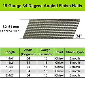 15 Gauge 34 Degree DA Series