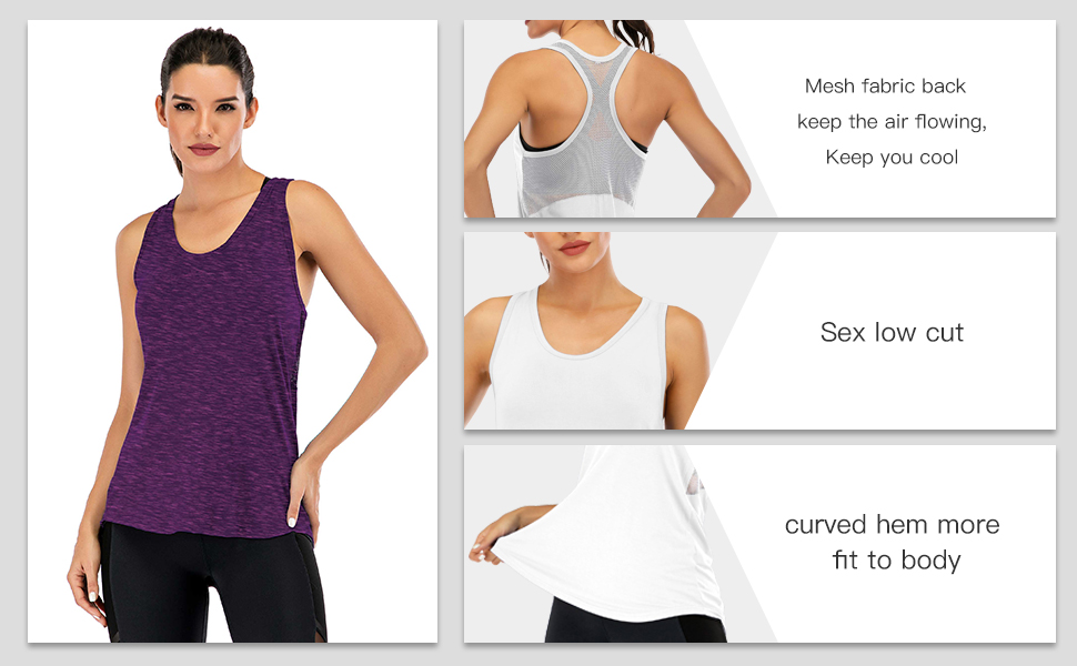 Women/'s Push It Tank Top Perfect For Your Workout Available In White Black Royal Blue Navy And Grey Colors