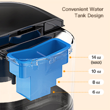 Cooffee Maker With Convenient Water Tank Design