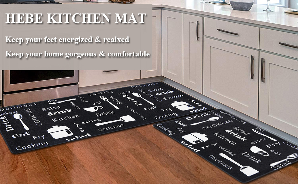 Office Home Use 17x28 17x47 Coffee Leisurevie Anti Fatigue Kitchen Rug Sets 2 Piece Comfort Floor Standing Mat Waterproof Non Slip Thick Cushioned Rugs For Kitchen Home Kitchen Kitchen Dining