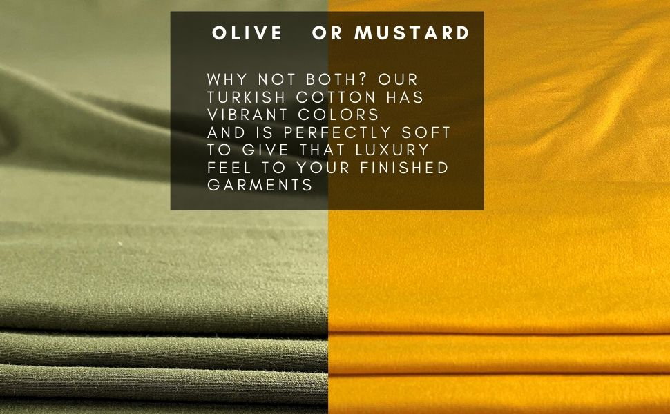 turkish cotton lycra fabric mustard olive