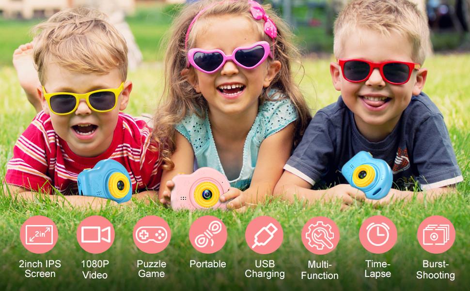 cámara fotos niños