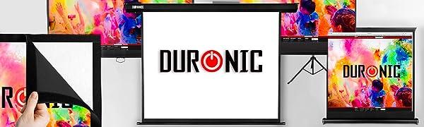 Duronic FFPS150 Pantalla de Proyección con Marco para Instalación ...