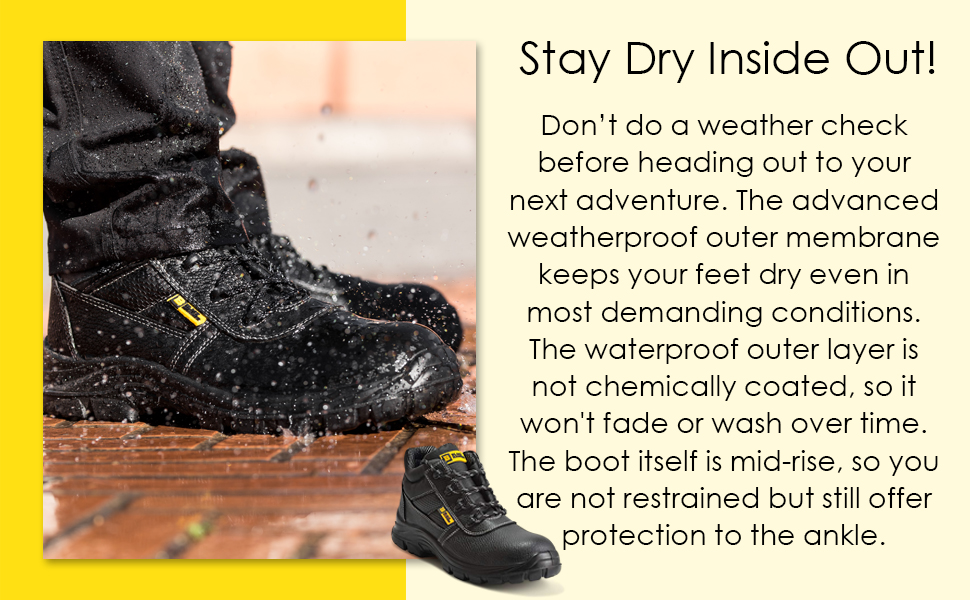 Comfortable safety shoes for a snug and comfortable fit. Lightweight safety shoes can be won all day