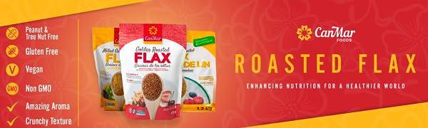 Roasted flax seeds