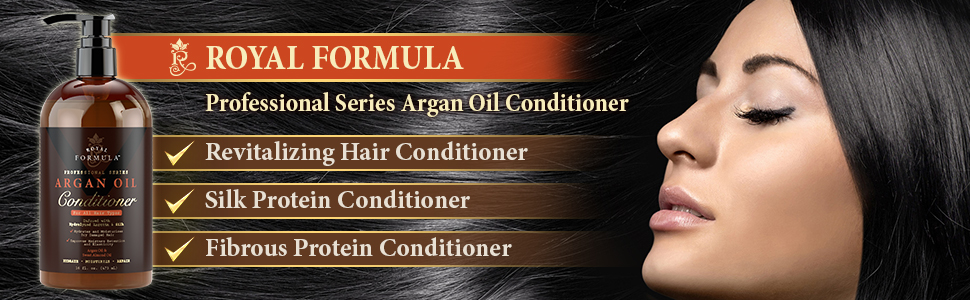Royal Formula Argan Oil Shampoo and Conditioner Set with Biotin Sulfate Free for Dry Damaged Hair