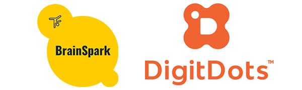 BrainSpark DigitDots Logo