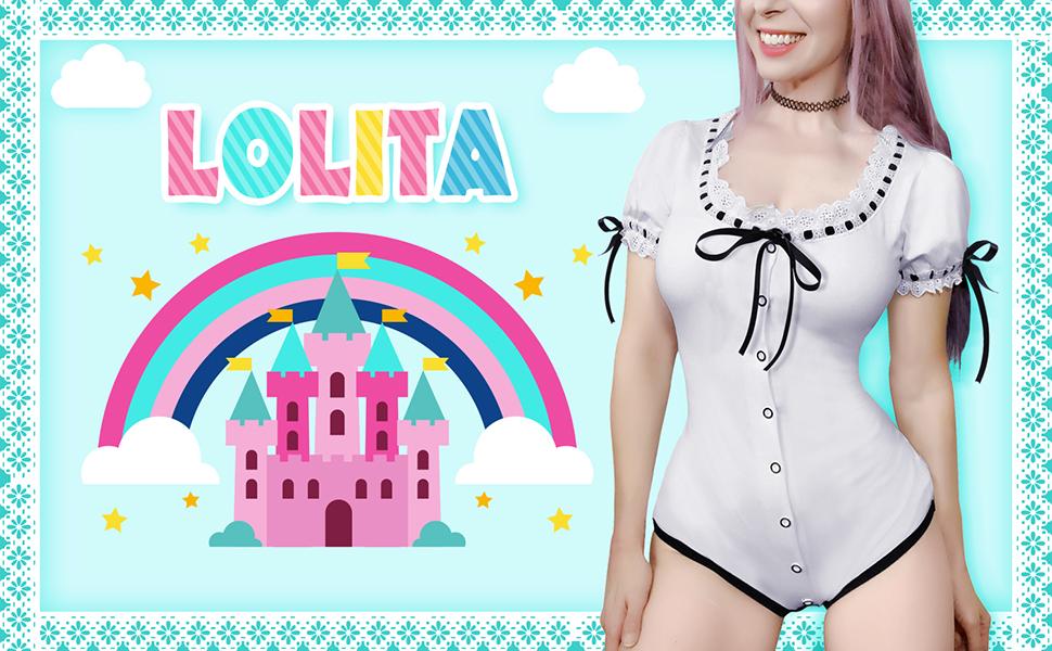 Lolita Onesie Littleforbig Cotton Romper Pajamas Bodysuit