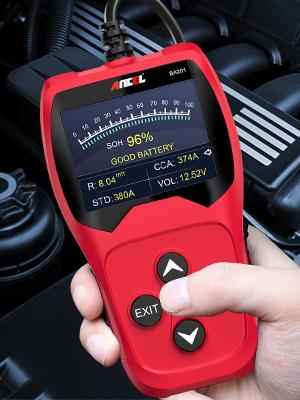 Negro ANCEL BA201 12V 100-2000 CCA Automotriz Probador de Bater/ía Motor de Arranque Alternador Sistema de Carga Analizador Digital Herramienta de Prueba autom/ática