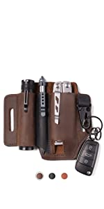 leather edc pouch