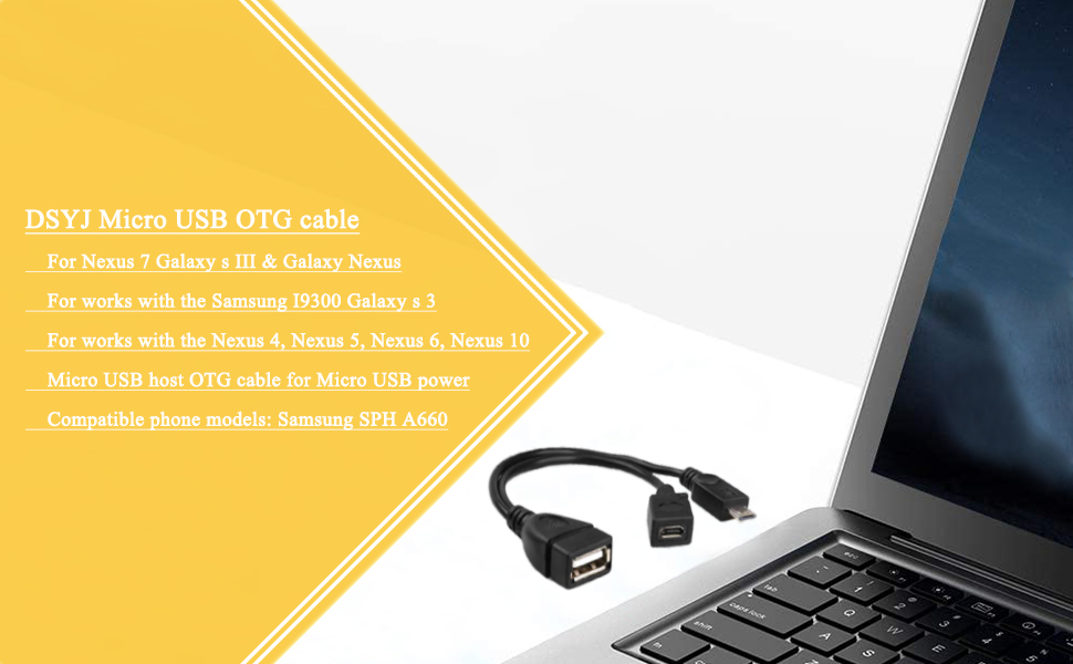 PRO OTG Power Cable Works for Samsung Galaxy View 18.4 64GB AT/&T with Power Connect to Any Compatible USB Accessory with MicroUSB