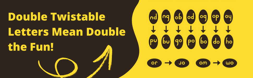 Double Twistable Letters