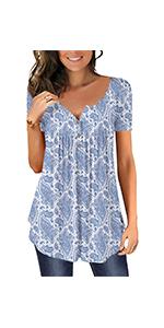 flare top blue t shirt Summer