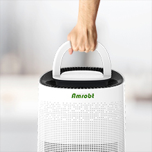 handle  Amrobt Smart Wi-Fi Air Purifier for Home Large Room with True HEPA Filter.4-layer Filtration, Odor Eliminator for Allergies and Pets, Ionic & Sterilizer, Air Cleaner for Office & Home, Rid of Mold, Smoke, Odor. Works with Alexa 1317d4bf 08e8 41c1 af9a b4ee17852390