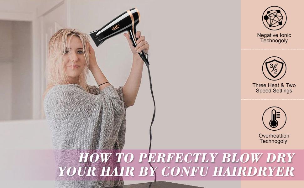 confu hairdryer ionic