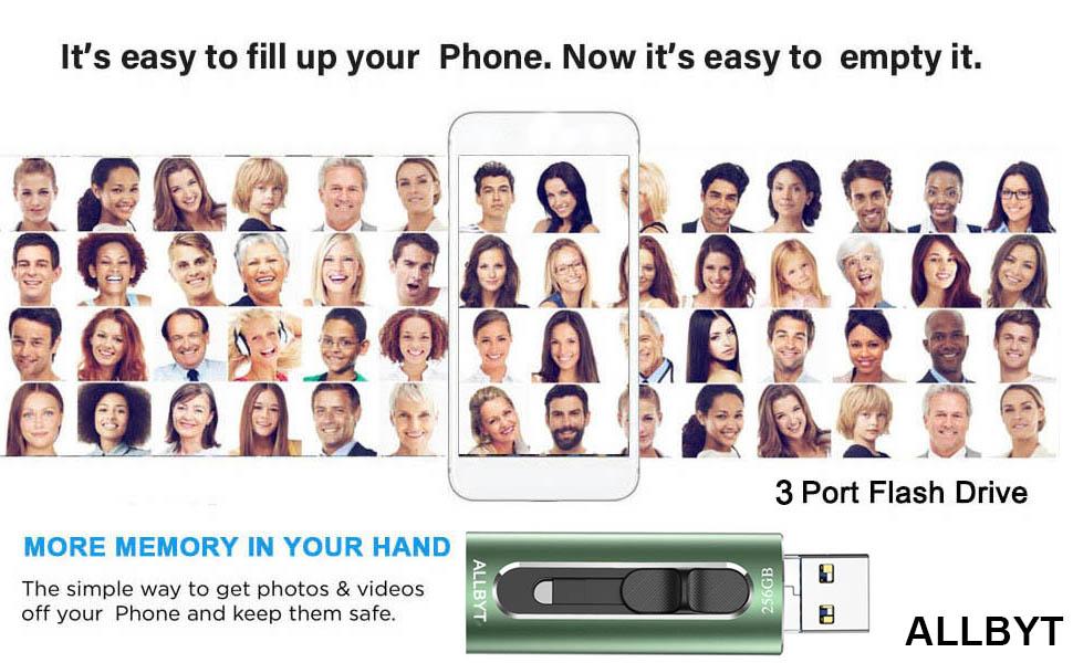 photo stick phone flash drive usb flash drive 256gb