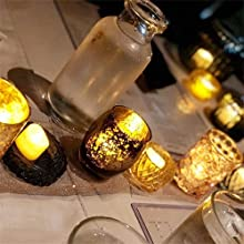 flameless candles flickering led halloween tea lights battery operated tealights votive electric
