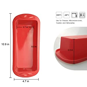 perfect size silicone loaf tin to bake cake,bread and mousse