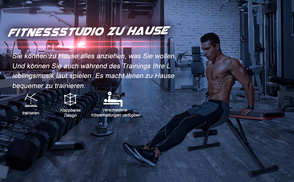 Verstellbare Fitnessbank