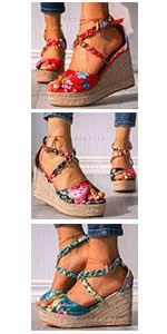bohemia sandals wedge sandals