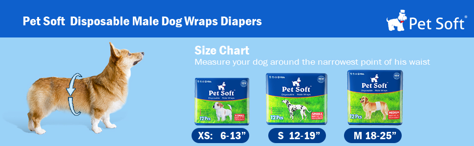 Pet Soft Male Diapers
