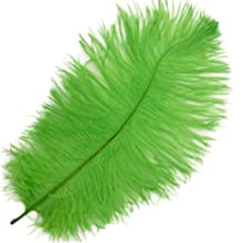 Lime Green Ostrich Feathers