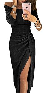 Vestido con Aberturas Laterales para Mujer