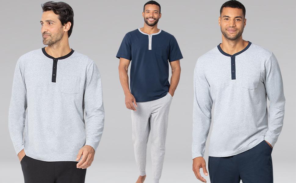 Lineup of men's pajamas
