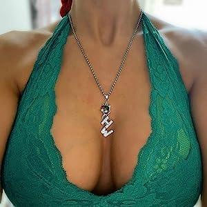 Hotwife Rhinestone Vixen Necklace