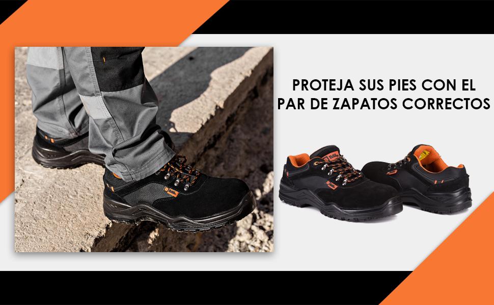 Zapatos de seguridad ligeros, zapatos de seguridad compuestos con suela intermedia de Kevlar