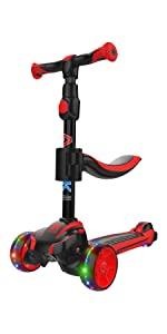 allek kids scooter 3 wheel lightup height adjustable 2-in-1 deluxe D01