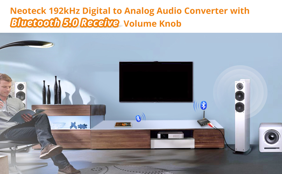 digital to analog audio converter with bluetooth receiver, digital to analog audio converter, dac