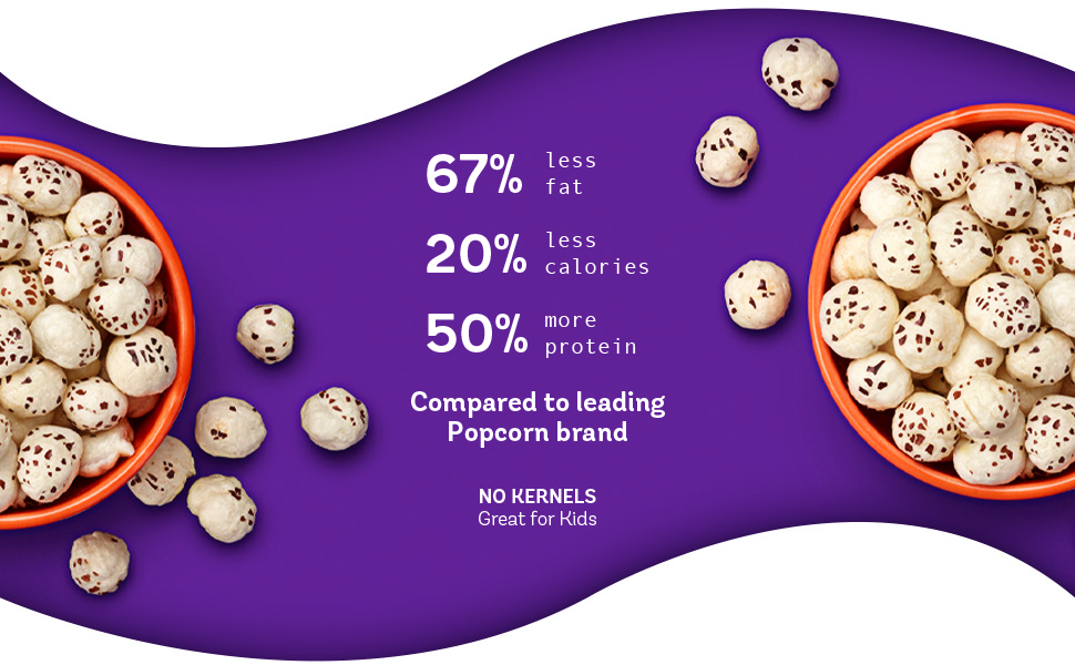 bohana nutrition facts as compared to leading popcorn brand