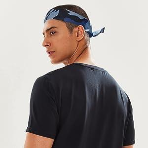 Navy Blue Headband Bandanas Neckercheif