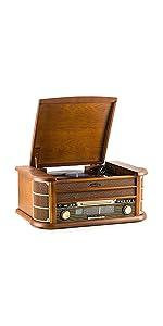 Tocadiscos: MC-262 SHUMAN, Placa Giratoria Bluetooth deTres ...
