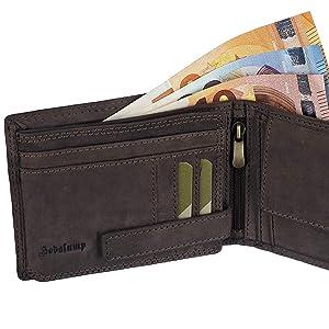 Hodalump Echt Leder Geldbörse Herren in Geschenkbox mit RFID Schutz (6 Varianten)