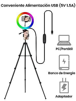 aro de luz con tripode para tik tok
