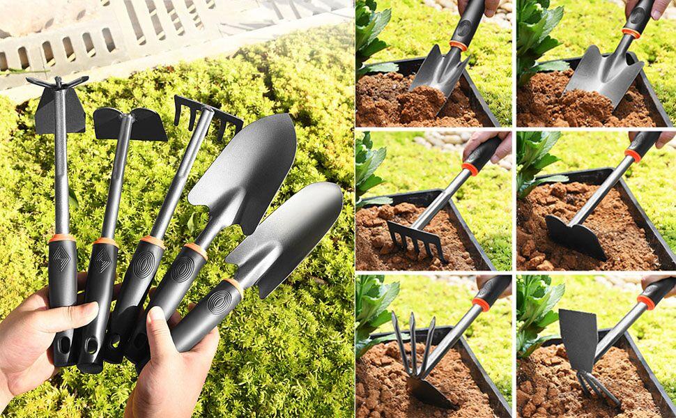 Garden Tool Set Tools Rake Indoor and Outdoor Hand Planting Kit Gardening Gifts for Women & Men