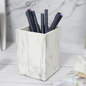 bathroom countertop make-up brush cup pencil dispenser small vase