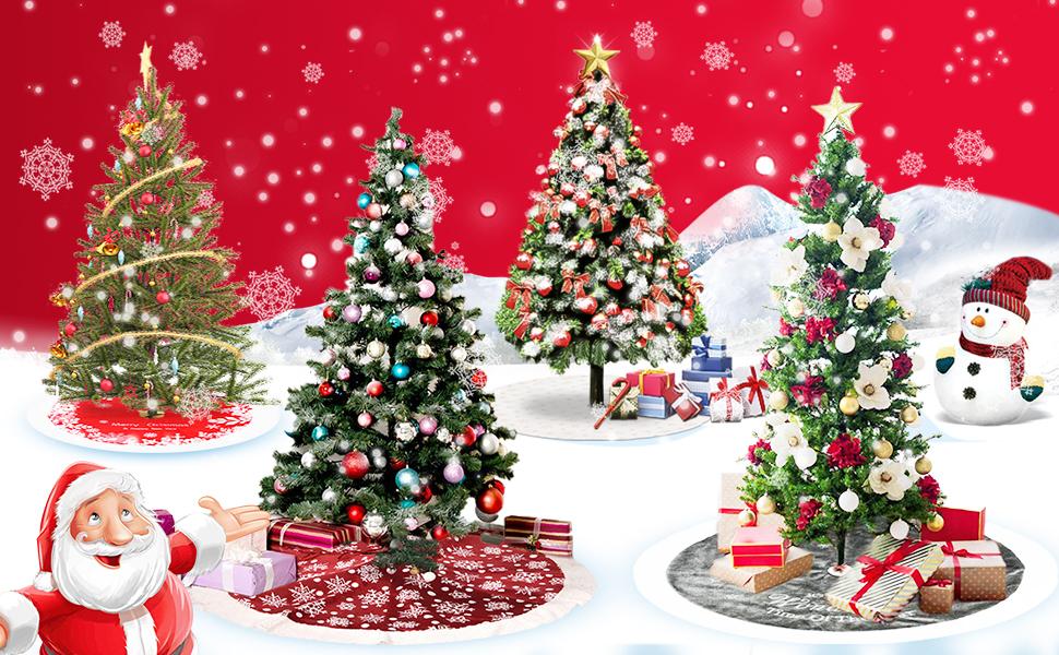 PROTAURI Falda de árbol de Navidad Estera de árbol - Lana de ...