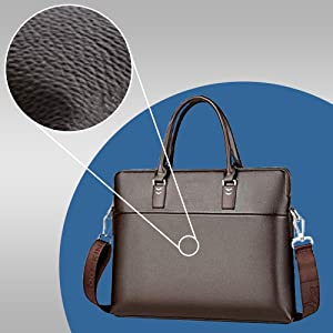 Voyarge Vidikangaroo PU Leather Laptop Bag, Waterproof - Brown