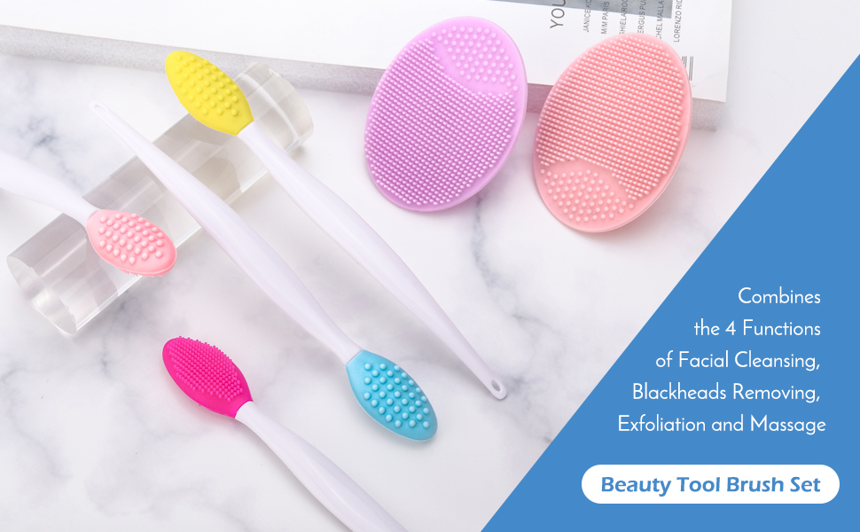 Amazon Com Lip Scrub Brush Lionvison 4pcs Silicone Exfoliating