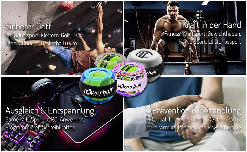 Toepassingen Powerball Sport Fitness fysiotherapie Revalida