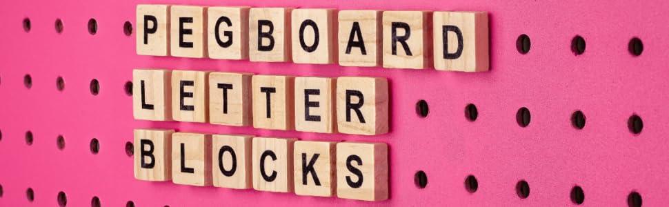 pegboard letter blocks