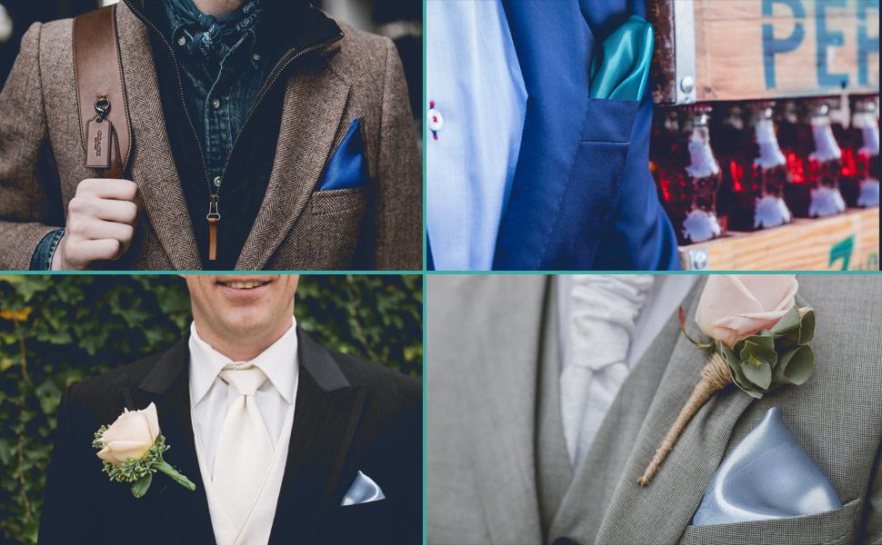 Bottle Green Pocket Square Hankie Handkerchief Wedding Formal Suit Blazer Jacket