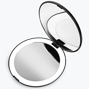 Fancii led lighted compact magnifying mirror