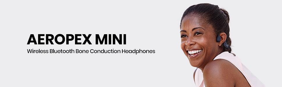 AfterShokz Aeropex Mini wireless, open-ear, bone conduction headphones